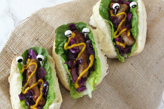 Monster Hot Dogs With Warm Red Cabbage Slaw My Fussy