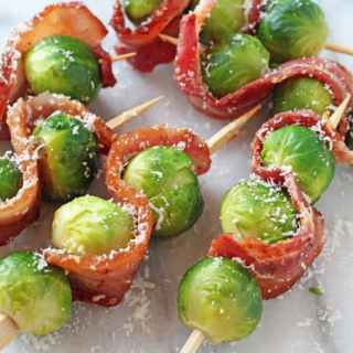 Bacon & Parmesan Brussels Sprout Skewers