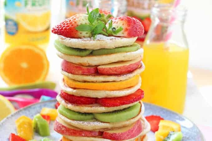 Delicious fruit pancakes perfect to make with the kids this Pancake Tuesday!