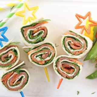 Salmon, Cream Cheese & Spinach Pinwheels