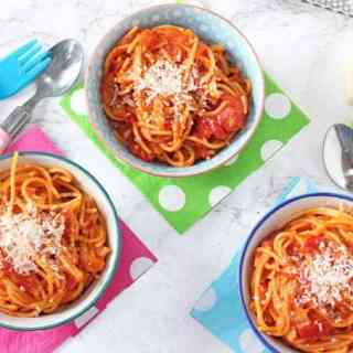 Simple Tomato Spaghetti for Kids