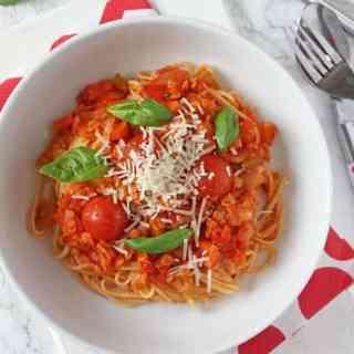 Red Lentil Bolognese for National Vegetarian Week