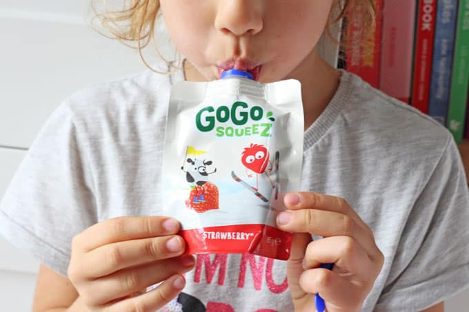 Healthy snacking for kids on the go made easy with GoGo squeeZ!