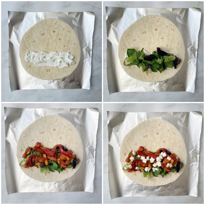 how to build the wrap step by step
