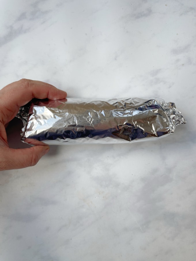 wrap in tin foil