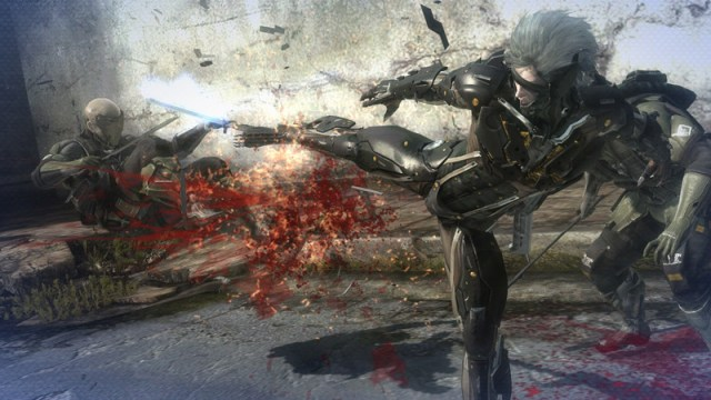 Rising the most gory MG game Metal Gear Rising: Revengeance (PS3) Review Metal Gear Rising: Revengeance (PS3) Review MGR 120920 battle kicking 1