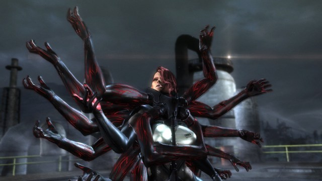 A creepy boss battle Metal Gear Rising: Revengeance (PS3) Review Metal Gear Rising: Revengeance (PS3) Review MGR 120920 mistral cut 1