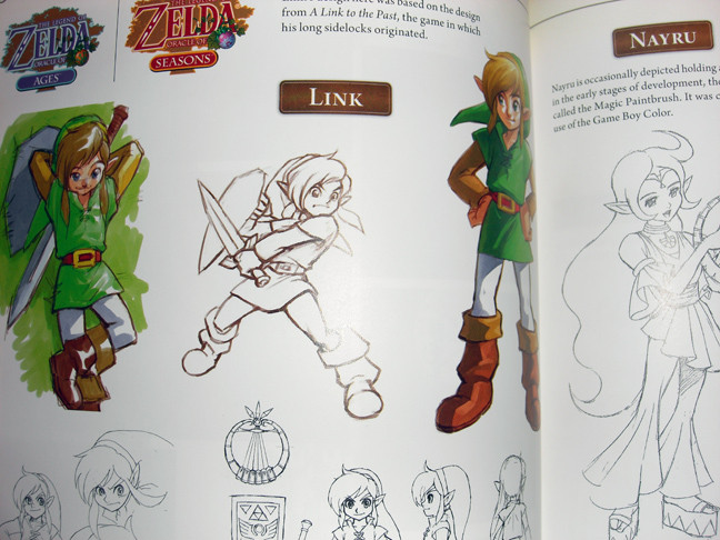 Many hand drawings are in this book Hyrule Historia Book Hyrule Historia Book Review Hyrule Art2