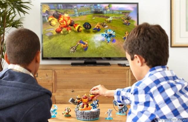 Two generic kids playing Skylanders skylanders giants Skylanders Giants (PS3) Review Skylanders Giants Lifestyle6