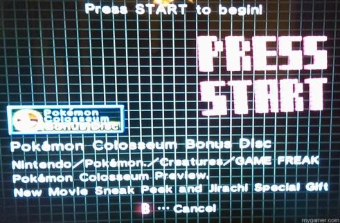 Press Start on tray Forgotten Relics: Pokemon Colosseum Bonus Disc (GC) FORGOTTEN RELICS – Pokemon Colosseum Bonus Disc (GC) Pokemon Colosseum Press Start 1024x673