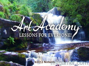 This is a great opening title screen when animated Art Academy: Lessons for Everyone (3DS) Review Art Academy: Lessons for Everyone (3DS) Review Art Academy Title