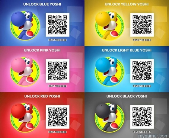 Scanning QR codes can unlock new skins Mario Tennis Open (3DS) Review Mario Tennis Open (3DS) Review Mario Tennis Open Yoshi QR