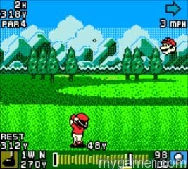 Facing Mario will take skill Mario Golf (GBC, 3DS Virtual Console) Review Mario Golf (GBC, 3DS Virtual Console) Review Mario Golf GBC Swing