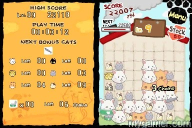 Many puzzles are solved with one move Cat Frenzy DSiWare 3DS eShop Review Cat Frenzy DSiWare 3DS eShop Review Cat Frenzy Chains