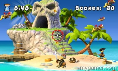 Shooting stationary targets that don't fight back isn't much fun Crazy Chicken: Pirates 3D 3DS eShop Review Crazy Chicken: Pirates 3D 3DS eShop Review Crazy Chicken Pirates 3D 1