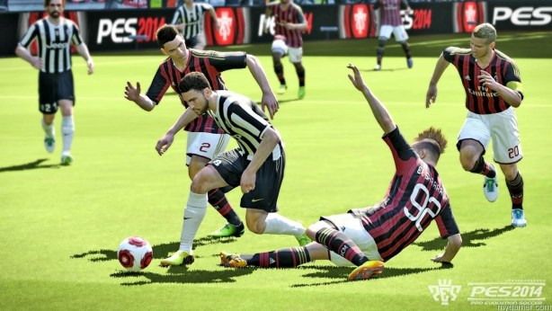 There is a solid sense of weight in player movement Pro Evolution Soccer 2014 (Xbox 360) Review Pro Evolution Soccer 2014 (Xbox 360) Review PES2014 Juventus ACMilan bmp jpgcopy