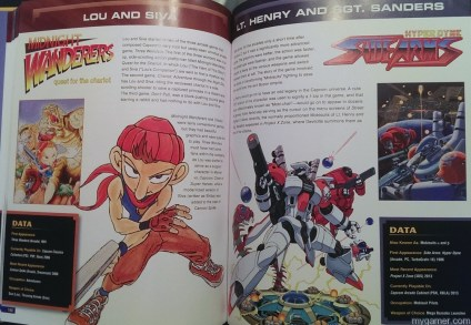 The robot from SideArms actually has a name and a story.  Who knew? Capcom 30th Anniversary Character Encyclopedia Book Review Capcom 30th Anniversary Character Encyclopedia Book Review Capcom Char Enc SideArms