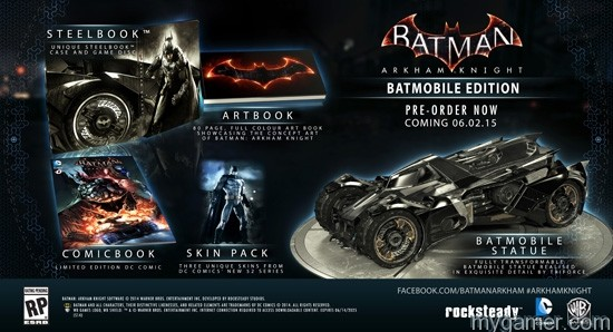 Batmobile Edition Batman Arkham Knight Set for June 2015 Release with Two Limited Editions Batman Arkham Knight Set for June 2015 Release with Two Limited Editions BAK Batmobile Edition