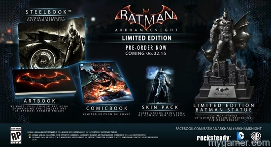 Batman Arkham Knight Set for June 2015 Release with Two Limited Editions Batman Arkham Knight Set for June 2015 Release with Two Limited Editions BAK Limited Edition1
