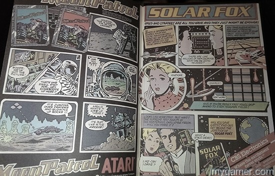 There is even a 2-page spread comic on the inside covers