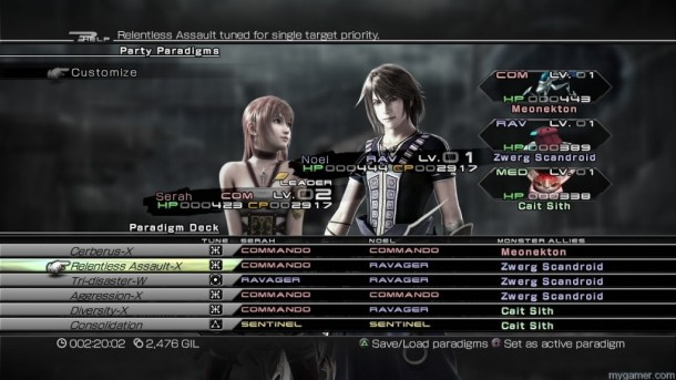 Final Fantasy XIII-2 Paradigm Final Fantasy XIII-2 Review Final Fantasy XIII-2 Review Final Fantasy XIII 2 Paradigm 1024x576