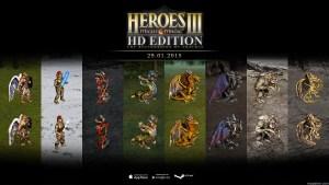 H3HD creatures comparison SD1999 vs HD2014