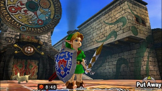 Link fights with more than just the Master Sword The Legend of Zelda Majora's Mask 3D (3DS) Review The Legend of Zelda Majora's Mask 3D (3DS) Review Majoras Mask CLock