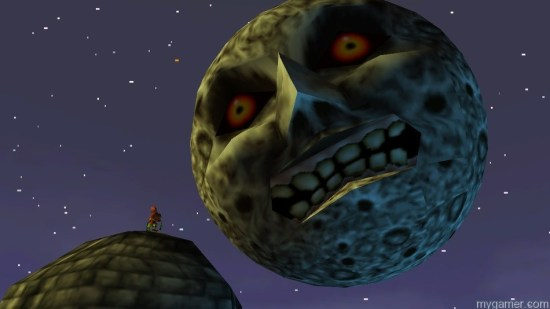 The Moon is basically the final boss that is always watching you. The Legend of Zelda Majora's Mask 3D (3DS) Review The Legend of Zelda Majora's Mask 3D (3DS) Review SkullKidandMoon