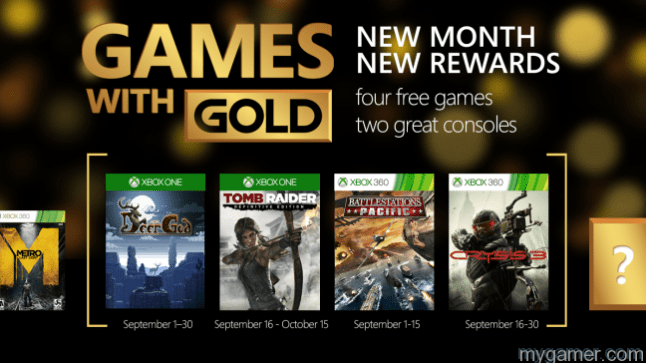Xbox Games With Gold September 2015 Announced Xbox Games With Gold September 2015 Announced Games with Gold Sept15