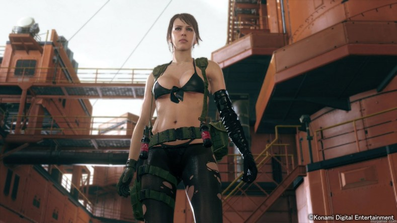 MGSV The Phantom Pain Screen Quiet at Mother Base