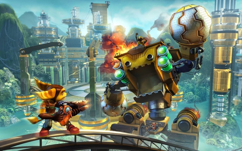 gameplay in new Ratchet & Clank for PS4