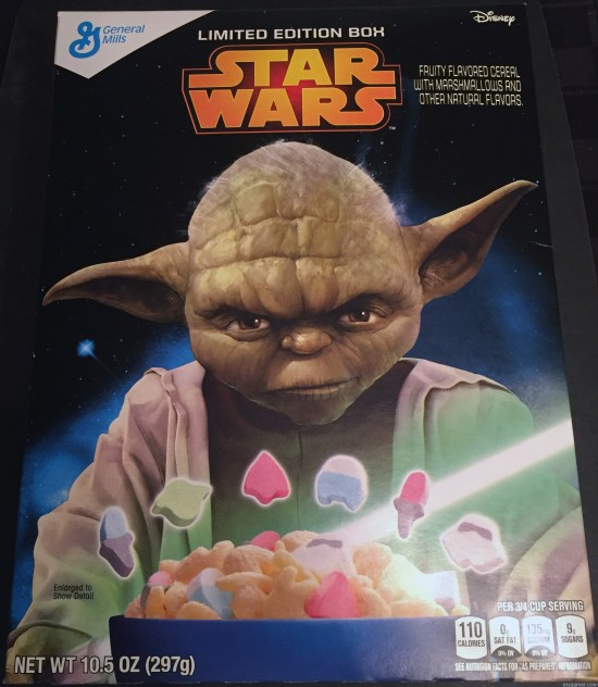 """The sh!ts this will give you, hmmm. Hehe."" Gamer's Gullet: Star Wars Cereal Review Gamer's Gullet: Star Wars Cereal Review Star Wars Cereal Box Front"