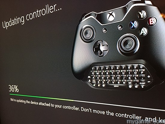 Updating the firmware xbox one chatpad review Xbox One Chatpad Review X1 Chatpad Update Screen