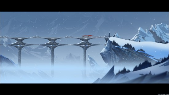 Do you destroy this critical landmark or not?  The Banner Saga Xbox One Review The Banner Saga Xbox One Review Banner Saga bridge
