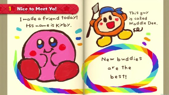 Collecting diary pages is much more difficult that you would think Kirby and the Rainbow Curse Review Wii U Kirby and the Rainbow Curse Review (Wii U) Kirby Rainbow curse diary