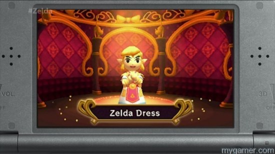So Zelda is sort of in the this game...  Legend of Zelda: Tri Force Heroes 3DS Review Legend of Zelda: Tri Force Heroes 3DS Review LoZ Tri Force Heroes Zelda Dress