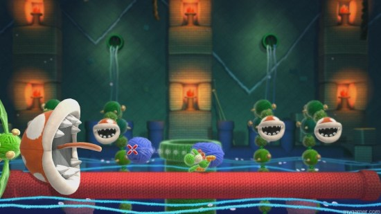 Like in the original, Kamek makes ordinary enemies extraordinary with his magic for boss fights Yoshi's Woolly World Wii U Review Yoshi's Woolly World Wii U Review yoshiwoollyworldboss