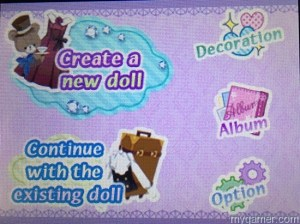 Doll Fashion Atelier MainMenu