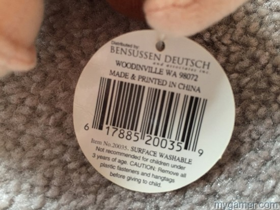 Bar codes are on the back of the tags