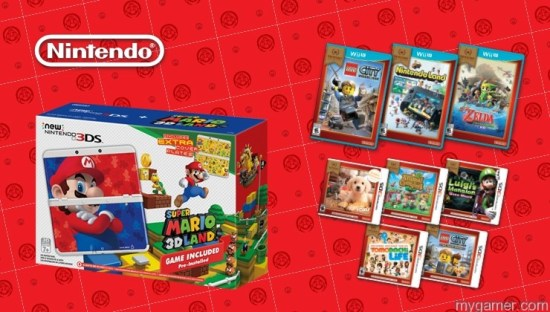 Nintendo Bundle Nintendo Announces New 3DS Mario Bundle, Next Wave of Selects, and New amiibo Game Bundles Nintendo Announces New 3DS Mario Bundle, Next Wave of Selects, and New amiibo Game Bundles Nintendo Bundle