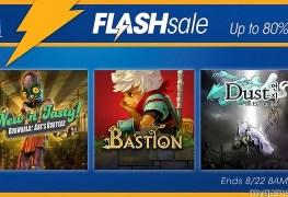 PSN Flash Sale Live Now through 8-22 PSN Flash Sale Live Now through 8-22 PSN Flash Sale 8 22 16