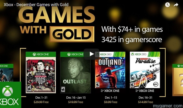 Games With Gold Dec 2016