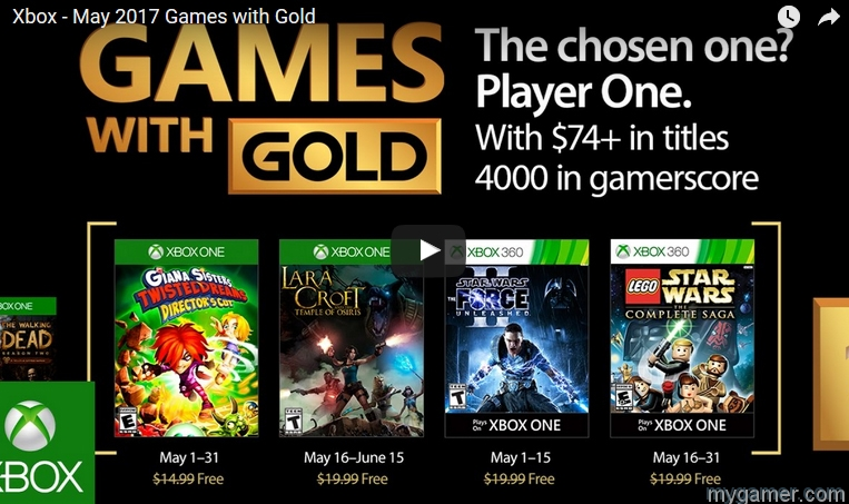 Xbox Games with Gold May 2017