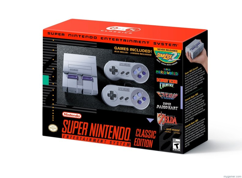 [object object] Nintendo Announces the SNES Classic Edition SNES Mini console box
