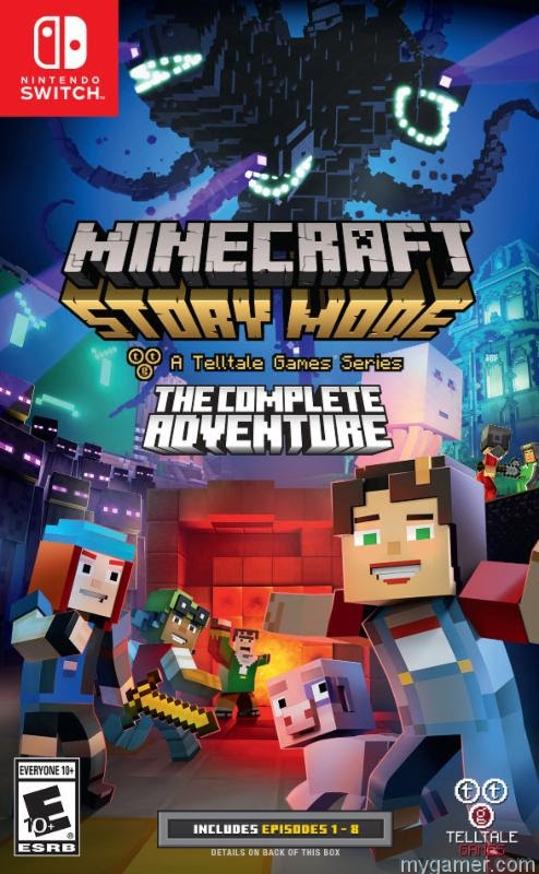 [object object] Minecraft: Story Mode – Season Two Coming Mid-Aug, Switch Gets Physical Season One Minecraft Switch box
