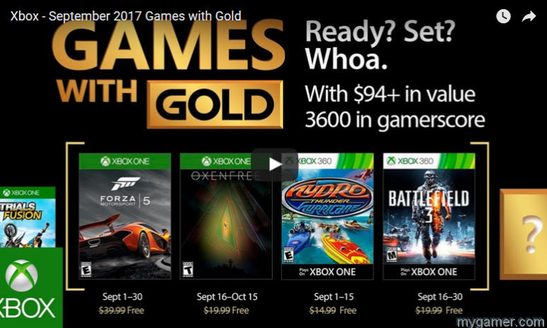 xbox live games with gold for september 2017 announced Xbox Live Games With Gold for September 2017 Announced Xbox Games Gold Sept 2017