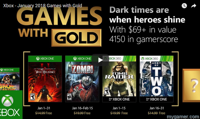 xbox live games with gold for january 2018 Xbox Live Games With Gold For January 2018 Xbox Games with Gold Jan 2018