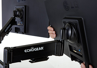 echogear dual monitor desk mount with dynamic gas spring adjustment (hardware) review Echogear Dual Monitor Desk Mount with Dynamic Gas Spring Adjustment (Hardware) Review install step3 gmf2c