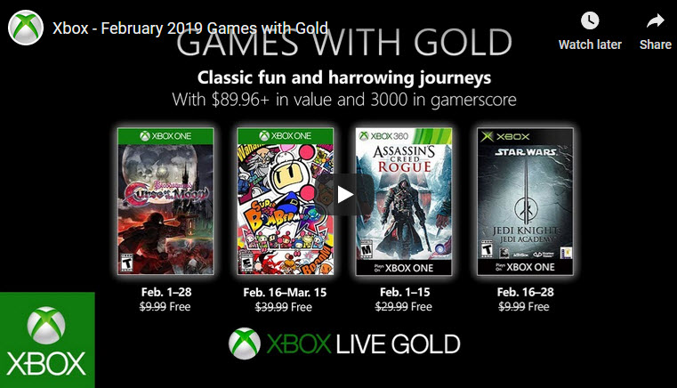 Games with Gold Feb 2019