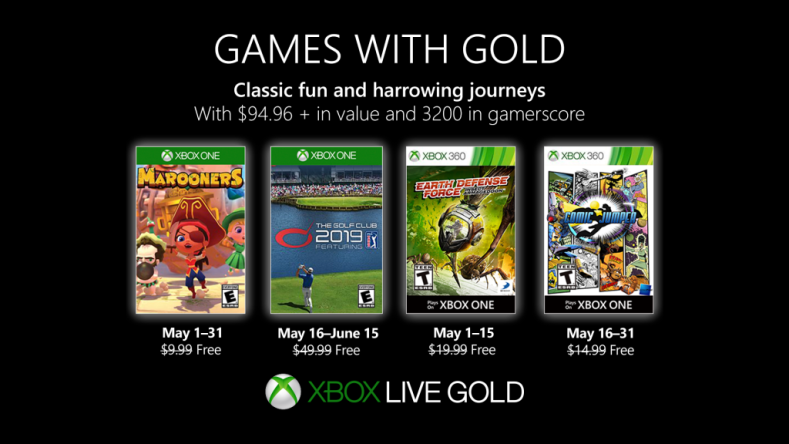here's the free xbox live games with gold for may 2019 Here's the Free Xbox Live Games With Gold for May 2019 Xbox Games with Gold May 2019